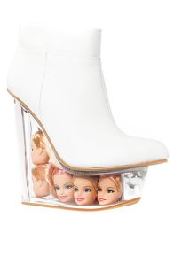 white doll shoe